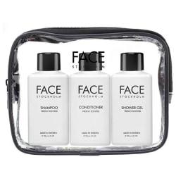 Face Stockholm Travel Kit Schampo, Balsam, shower gel 3 × 100 ml