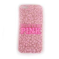 iPhone 6 / 6S mobilskal skal - Rosa glitter PINK leopard
