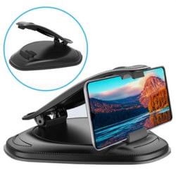 Universell Smartphone Bilhållare för Instrumentbrädan - 4-... Svart