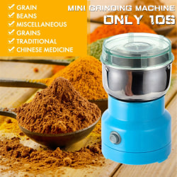 [10s Fast Grinding] 800W Household Electric Coffee Grinder EU Plug