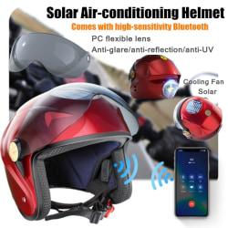 Smart solconditionshjälm Bluetooth halvhjälm