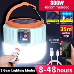 Solar Camping Light LED Spotlight Bright Emergency Night Light