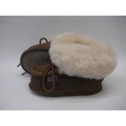 Fårskinnstofflor med lädersula brun AXELDA Barn 20-21