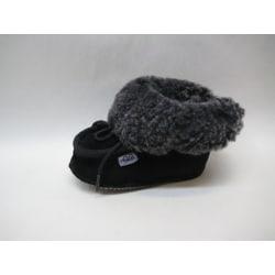 Fårskinnstofflor med lädersula svart AXELDA Barn 20-21