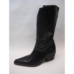 Western Boots stövel Skinnstövlar Svart 36