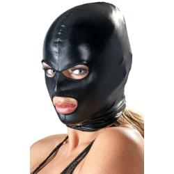 Bad Kitty Shiny Black Wetlook Mask Mask
