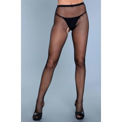 BeWicked Go Fish Crotchless Pantyhose One Size one size