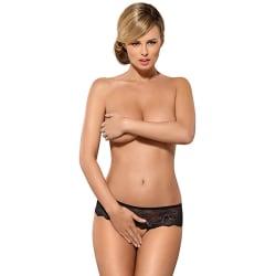 Obsessive Merossa Crotchless Panties Black XXL XXL