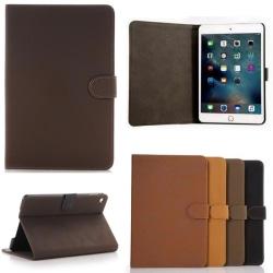 Fodral Mocka/Läder iPad Mini 4 - Retro, 4 Färger Mörkbrun