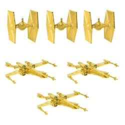 Julgransdekoration Star Wars (6st) - Guld Guld