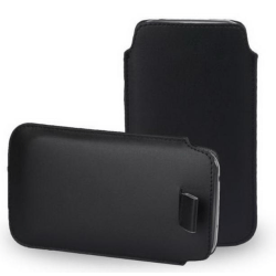 Läderfodral Sony Xperia Z1 - Svart