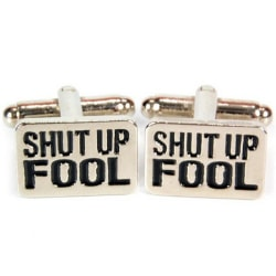 Manschettknappar 2-pack - Shut Up Fool (A-Team)