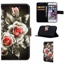 Plånboksfodral Apple iPhone 7 – Rosor