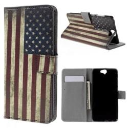 Plånboksfodral HTC One A9 - Flagga USA