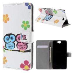 Plånboksfodral HTC One A9 – Ugglor & Blommor