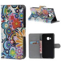 Plånboksfodral HTC One (M9) - Blommor & Cirklar