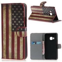Plånboksfodral HTC One (M9) - Flagga USA