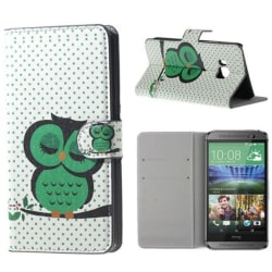 Plånboksfodral HTC One (M9) – Prickigt med Uggla