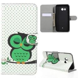 Plånboksfodral HTC U11 – Prickigt med Uggla