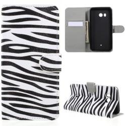 Plånboksfodral HTC U11 - Zebra