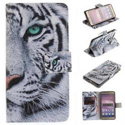 Plånboksfodral Huawei Honor 8 – Vit Tiger