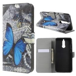 Plånboksfodral Huawei Mate 10 Lite – Blå Fjäril