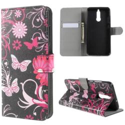 Plånboksfodral Huawei Mate 10 Lite - Svart med Fjärilar