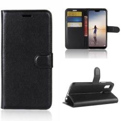 Plånboksfodral Huawei P20 Lite - Svart Svart