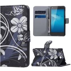 Plånboksfodral Huawei Y5 II – Svart med Blommor
