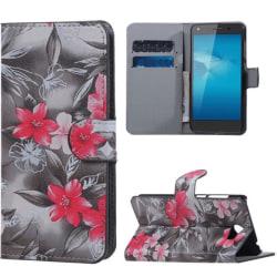 Plånboksfodral Huawei Y5 II – Svartvit med Blommor