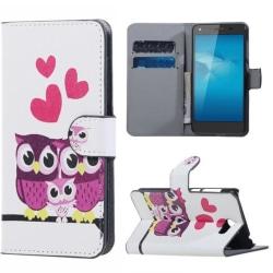 Plånboksfodral Huawei Y5 II – Ugglor & Hjärtan