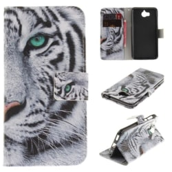 Plånboksfodral Huawei Y6 2017 - Vit Tiger