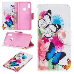 Plånboksfodral Huawei Y6 2019  – Färgglada Fjärilar
