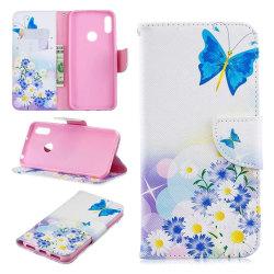 Plånboksfodral Huawei Y6 2019  – Fjärilar och Blommor