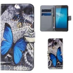 Plånboksfodral Huawei Y6 II Compact – Blå Fjäril