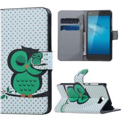 Plånboksfodral Huawei Y6 II Compact – Prickigt med Uggla