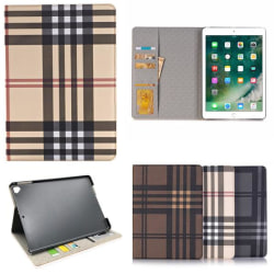 """Plånboksfodral iPad Air 9,7"""" - Rutmönster, 3 Olika Färger Svart"""