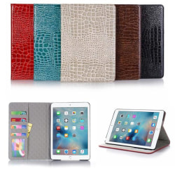 Plånboksfodral iPad Mini 4 - 5 Färger, Krokodilmönster Turkos