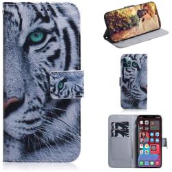 Plånboksfodral iPhone 12 Pro Max – Vit Tiger