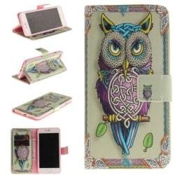 Plånboksfodral Iphone 7 Plus – Färgglad Uggla