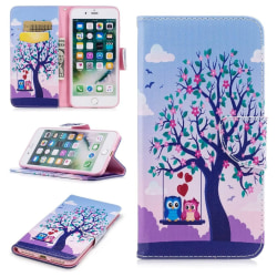 Plånboksfodral iPhone 7 Plus – Ugglor på Gunga