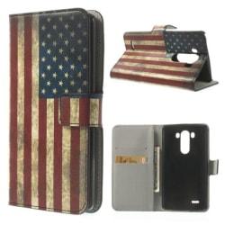 Plånboksfodral LG G3 (D855) - Flagga USA