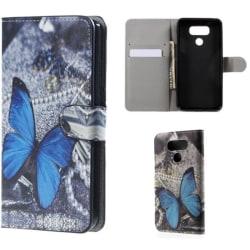 Plånboksfodral LG G6 – Blå Fjäril