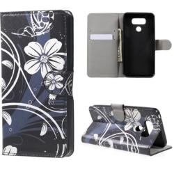 Plånboksfodral LG G6 – Svart med Blommor