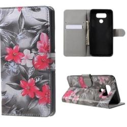 Plånboksfodral LG G6 – Svartvit med Blommor