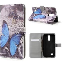Plånboksfodral LG K10 2017 – Blå Fjäril