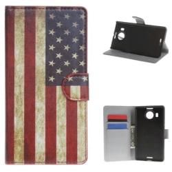 Plånboksfodral Microsoft Lumia 950 XL - Flagga USA