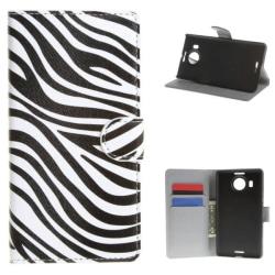 Plånboksfodral Microsoft Lumia 950 XL - Zebra