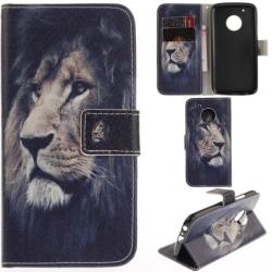 Plånboksfodral Moto G5 Plus – Lejon