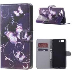Plånboksfodral Oneplus 5 – Lila med Fjärilar